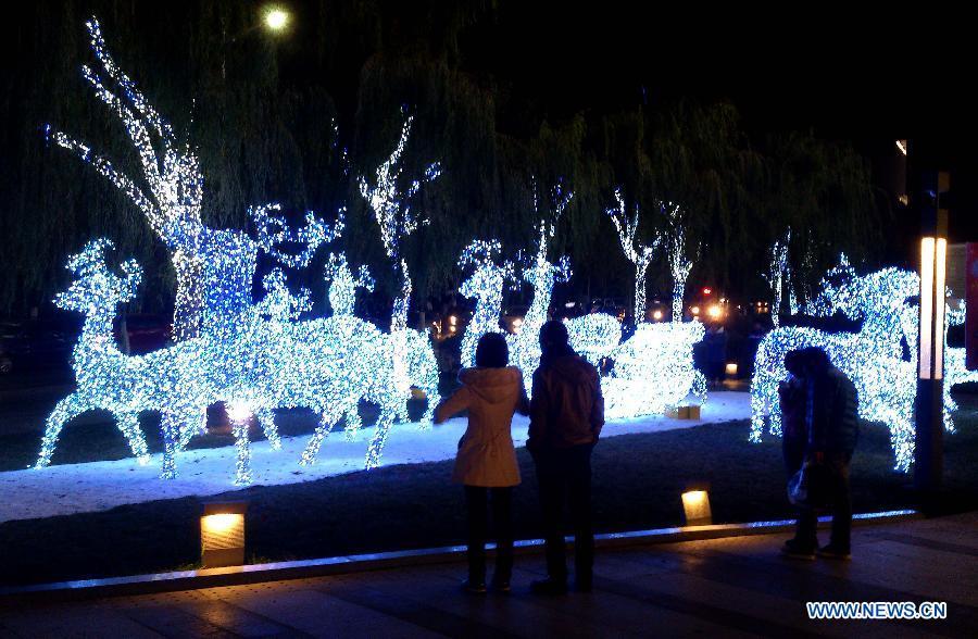 Christmas lights in E China's Shandong - China.org.cn