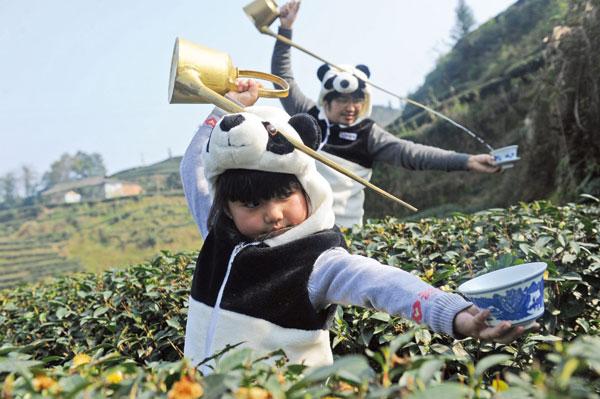 Specially fertilized tea