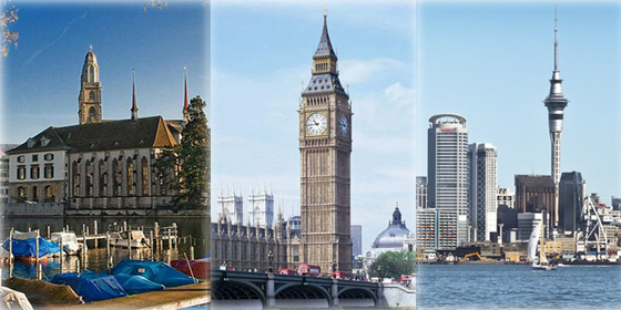 Top 10 most livable cities in the world of 2012