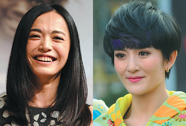 TV hostess Xie Na (right) briefly surpasses actress Yao Chen as 'queen of weibo.'