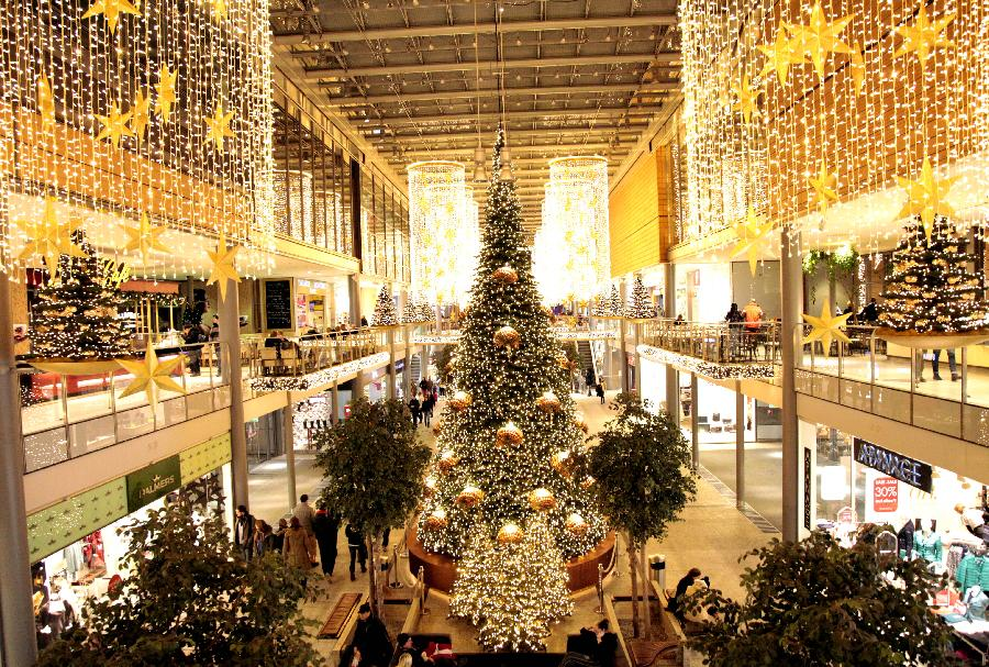 Decorations In Germany During Christmas : Christmas decorations at mall in berlin germany china