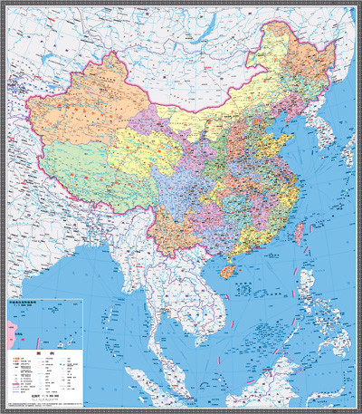 The new vertical-format maps of China, published by Sinomaps Press, include more than 130 islands and islets in the South China Sea.