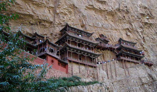 Hanging Temple, China, one of the 'top 10 most dangerous structures in the world' by China.org.cn.