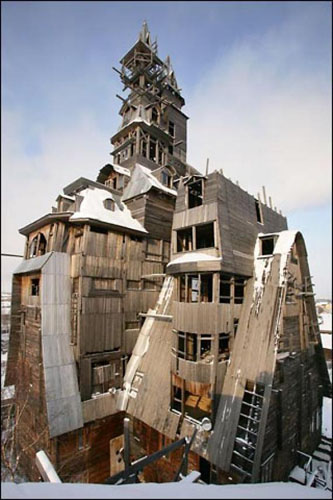 Sutyagin House, Russia, one of the 'top 10 most dangerous structures in the world' by China.org.cn.
