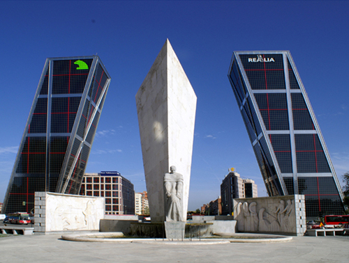 Puerta de Europa, Spain, one of the 'top 10 most dangerous structures in the world' by China.org.cn.