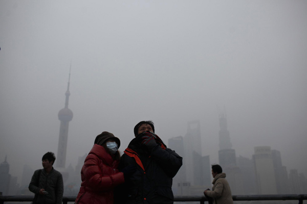 Shanghai plagued by heavy pollution