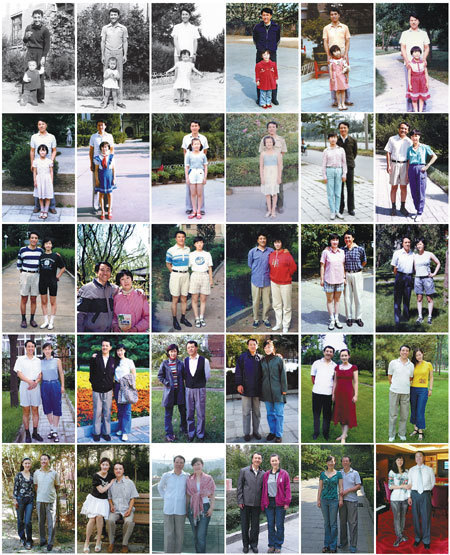 Zhao Mengmeng makes an album of 30 photographs taken with her dad around the same date for 30 straight years as a remarkable expression of love to her parent.