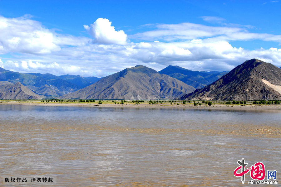 Beautiful Scenery Along Yarlung Zangbo River Chinaorgcn - Highest river in the world