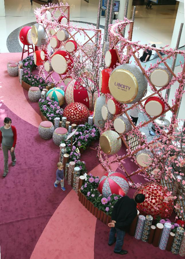 Various decorations appears in celebration of chinese - Lunar new year decorations ...