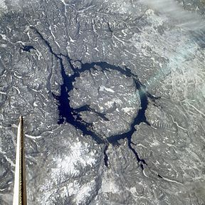 Top 10 largest meteor craters on Earth by China.org.cn - Manicouagan Crater