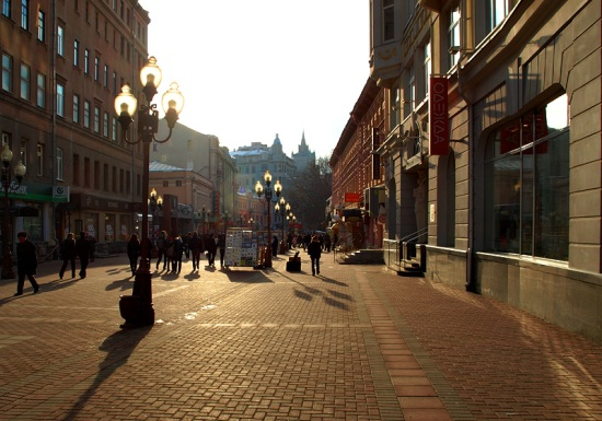 Arbat Street in Russia, one of the 'Top 10 shopping destinations in the world' by China.org.cn