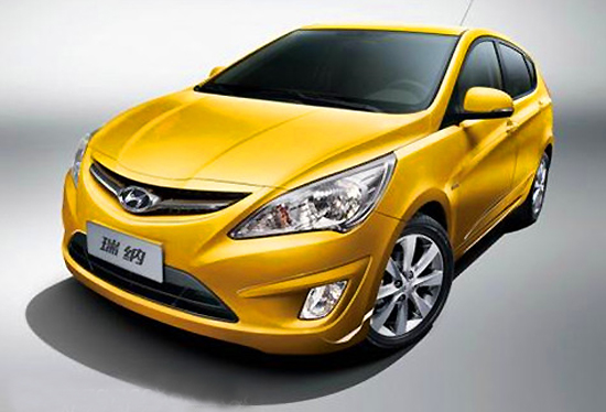 Hyundai Verna, one of the 'top 10 best-selling sedans in China 2012' by China.org.cn.