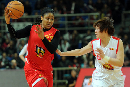 Maya Moore has renewed her contract for three years with Shanxi women's basketball team.