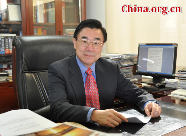 Huang Youyi, member of the 12th National Committee of the Chinese People's Political Consultative Conference (CPPCC) and vice president of China International Publishing Group (CIPG) [Wang Wei/China.org.cn]