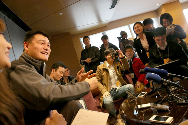 Yao stands for improving China's sports programs