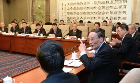 Wang Qishan joins discussion with deputies from Ningxia