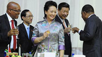 Chinese First Lady's diplomatic debut
