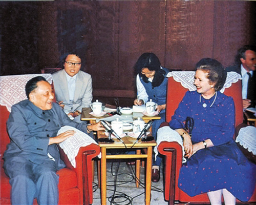 Late Chinese leader Deng Xiaoping and Margaret Thatcher [File Photo]