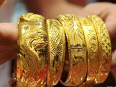 China gold prices fall below 300 yuan per gram