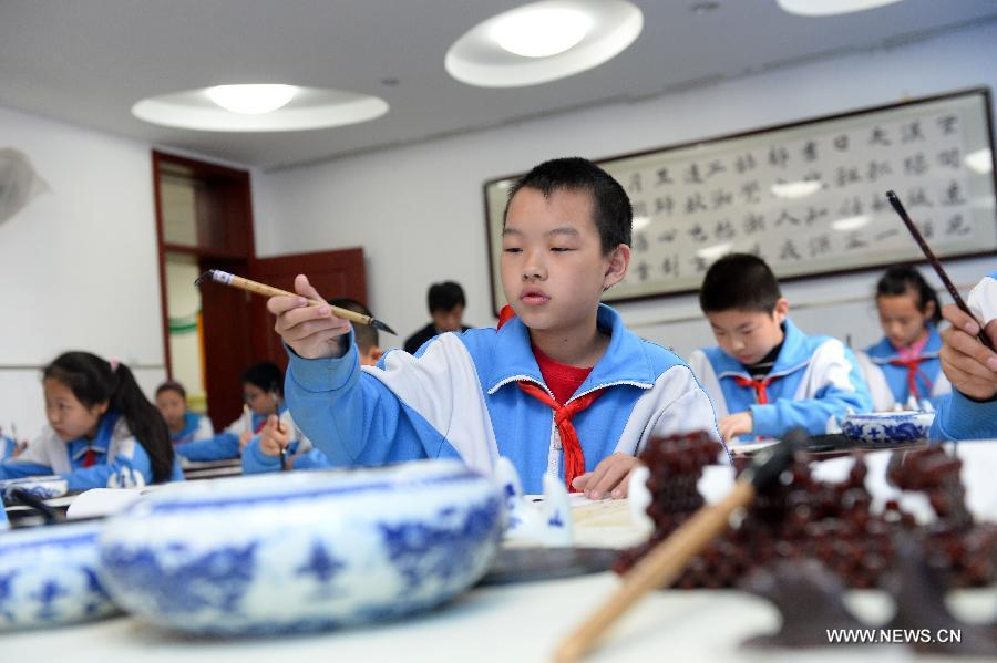 Calligraphy education in beijing s middle school china