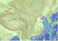 Sichuan earthquake map