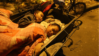 First post-quake night in Sichuan