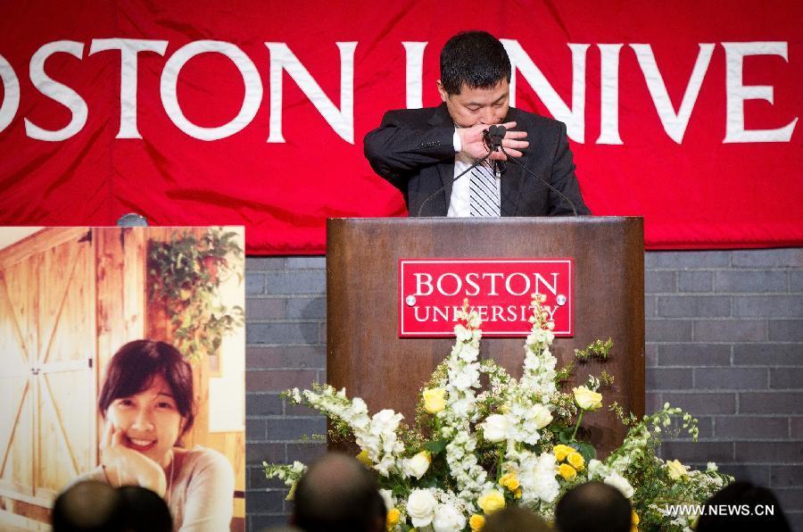 Boston University holds memorial service for bombing victim