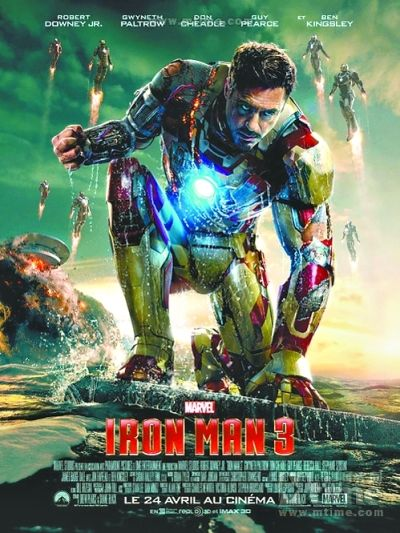'Iron Man 3' has broken China's box office record by raking in 130 million yuan (21.1 million U.S. dollars) on its opening day.