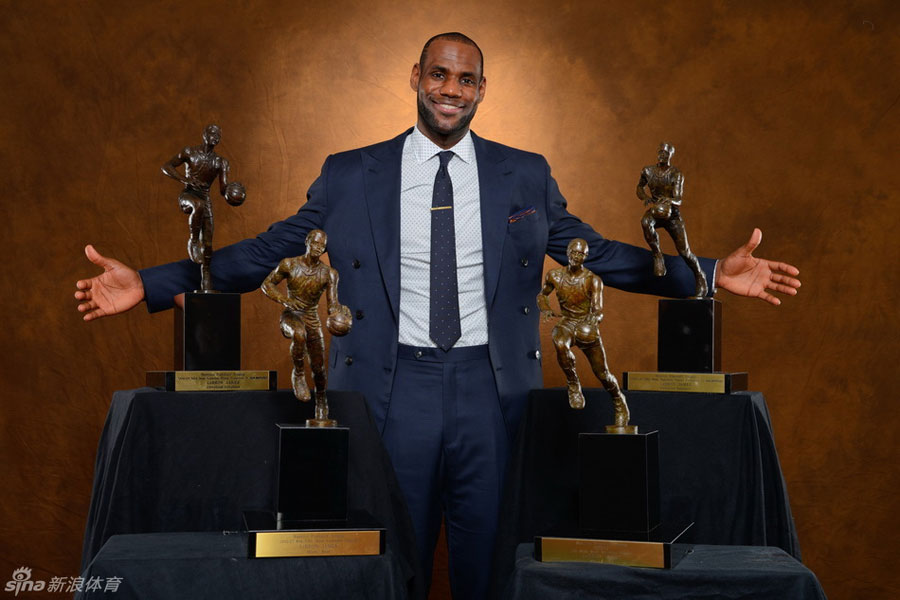 Miami Heats LeBron James Wins His Fourth NBA Most Valuable Player MVP Of The Year Award On May 5 2013 After Receiving 120 121 First Place Votes By