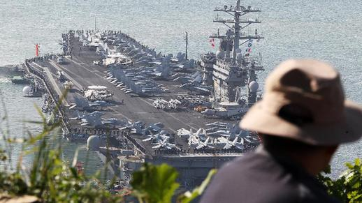 USS Nimitz arrives in Busan to join S. Korea-U.S. joint drill