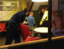   Man stuck in McDonald's baby high chair