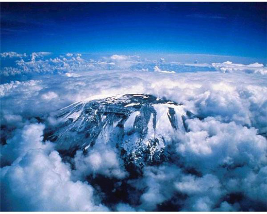 Mount Kilimanjaro, Tanzania, one of the 'top 10 endangered attractions in the world' by China.org.cn.