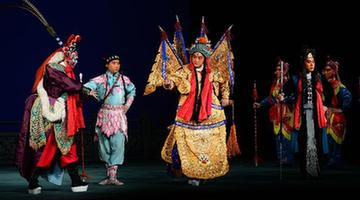 Artists perform Peking opera at the Lucent Danstheater in Hague, the Netherlands, May 21, 2013.