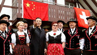 Chinese Premier visits Guldenberg farm in Zurich, Switzerland