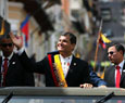 Ecuador's president sworn in for 3rd term