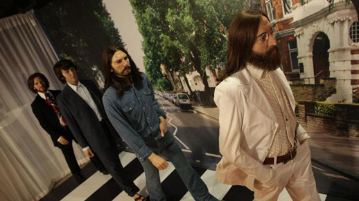 Beatles' wax figures exhibited to mark 50th anniversary of their first LP