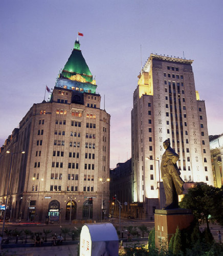 Peace Hotel, one of the 'top 10 attractions in Shanghai, China' by China.org.cn.