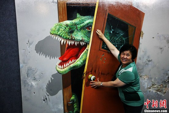 D Painting Exhibition : Qingdao d art exhibition takes you to jurassic park