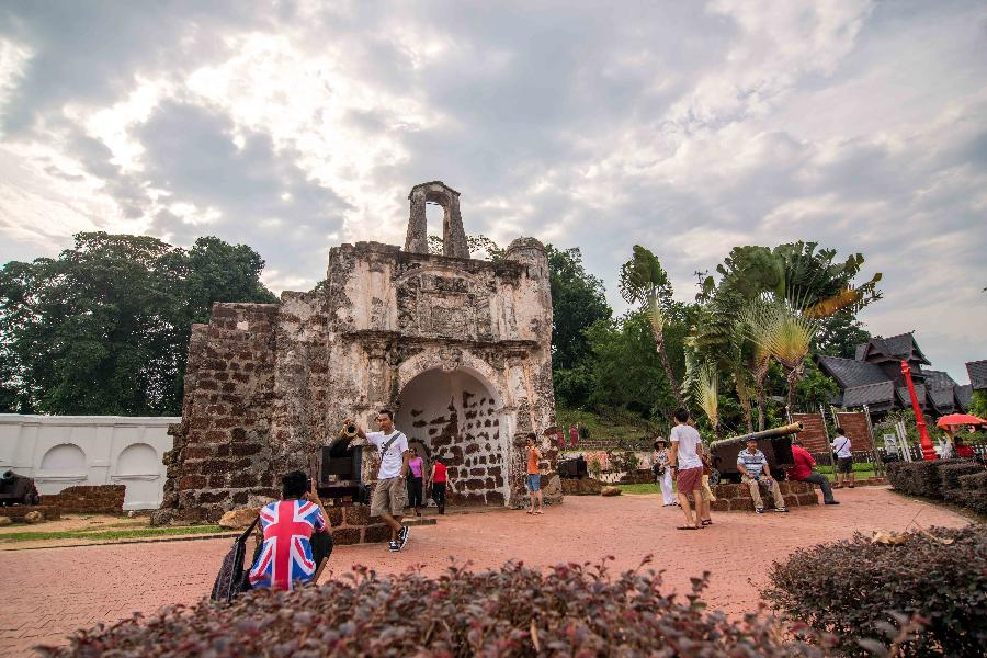 Tourists Visit Cultural Heritage Site Of Melaka Malaysia China Org Cn