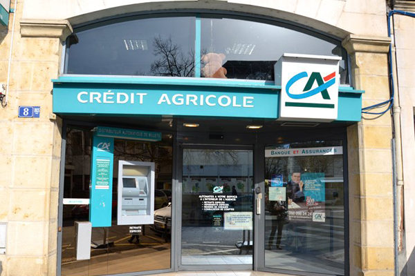 Credit Agricole,one of the 'Top 20 banks in the world of 2013'by China.org.cn.