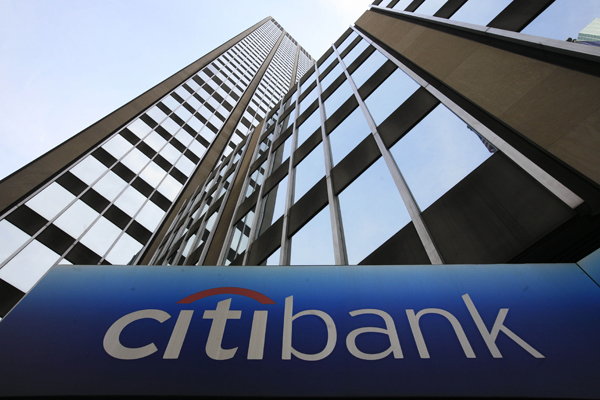 Citigroup,one of the 'Top 20 banks in the world of 2013'by China.org.cn.