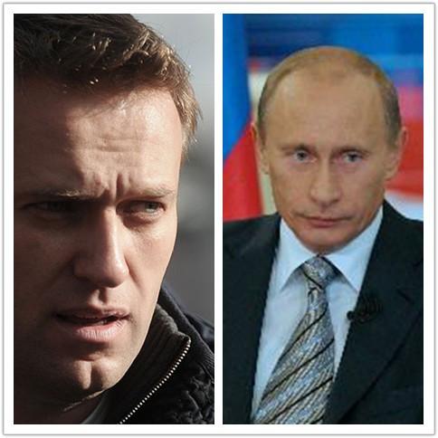 俄反对党一领导人阿列克谢·纳瓦尔尼判刑 总统普京遭炮轰