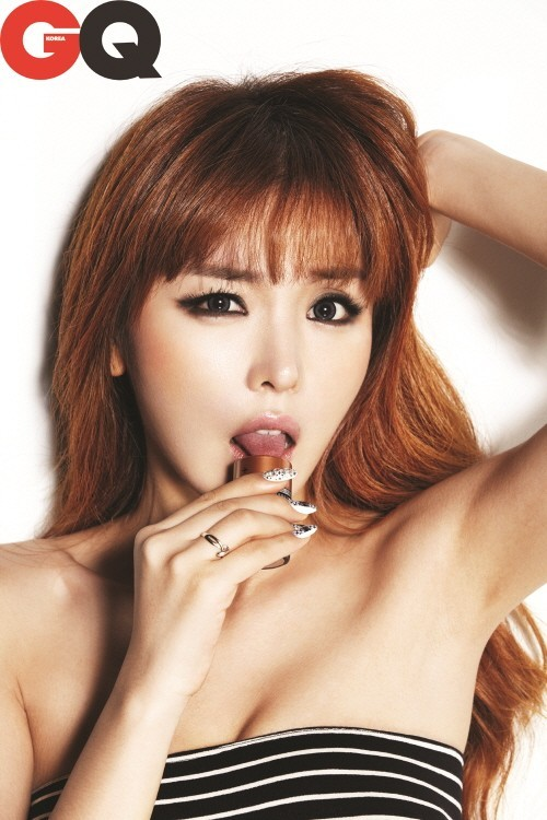 Korean singer hong jin young poses for magazine cover