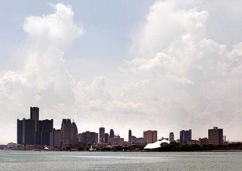 The city of Detroit's skyline is shown July 18, 2013. [Xinhua photo]