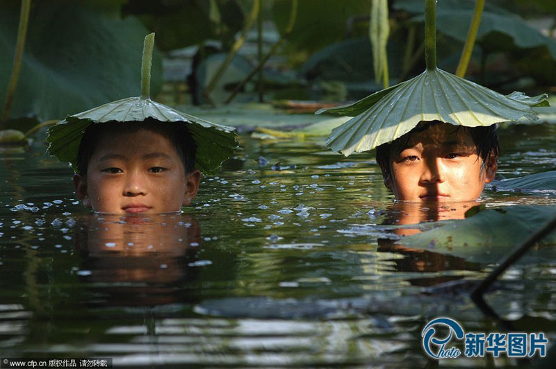 The series of photos show how chinese people prevent themselves from