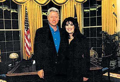 美国前总统比尔·克林顿和其性丑闻女主角莱温斯基 ...