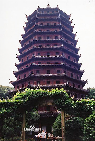 Six Harmonies Pagoda, one of the 'top 10 attractions in Hangzhou, China' by China.org.cn.