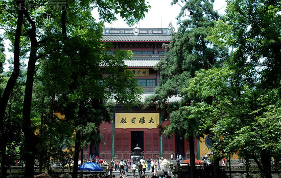 Lingyin Temple, one of the 'top 10 attractions in Hangzhou, China' by China.org.cn.