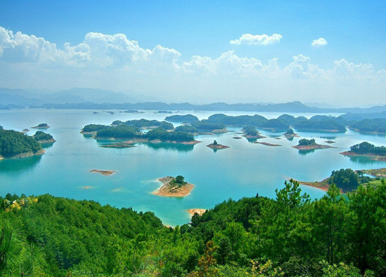 Thousand Island Lake, one of the 'top 10 attractions in Hangzhou, China' by China.org.cn.