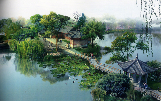 West Lake, one of the 'top 10 attractions in Hangzhou, China' by China.org.cn.